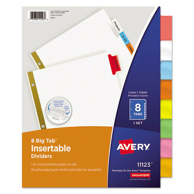 Avery Dennison Ave-11111 Worksaver Big Tab Insertable Divider - 8 tabs