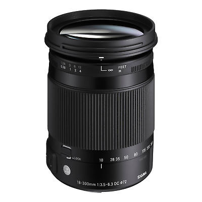 Sigma 18-300mm f/3.5-6.3 DC HSM OS Macro Zoom Contemporary Lens for Nikon F