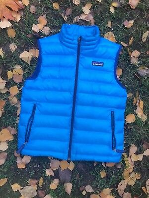 Boys PATAGONIA Goose Down Vest Jacket Youth Size S 7-8