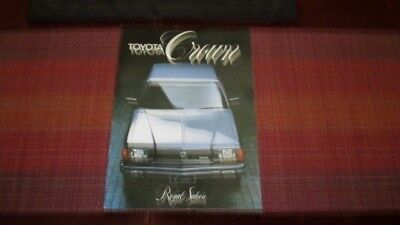 1982 Toyota Crown Royal Saloon Sales Brochure From Australia.