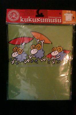 1 Kids Childrens T Shirts - Brand New KUKUXUMUSU brand surfing sheep(green)