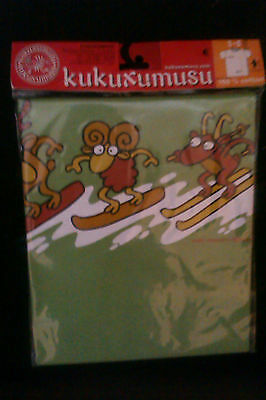 1 Kids Childrens T Shirts - Brand New KUKUXUSU animals skiing (green)