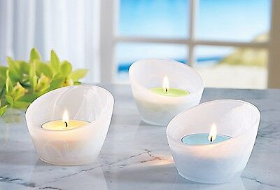 PartyLite FRESH HOME Large Tealight glass candle holder tealight votive jar *NIB