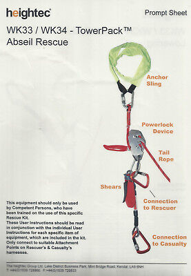 RESCUE KIT 100M TOWER CRANE DESCENDER SYSTEM WK34 Made by Heightec Oct 2015