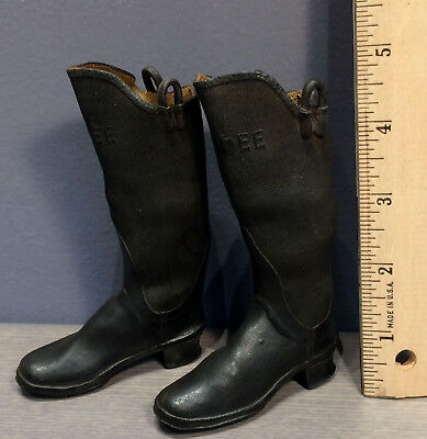 """Antique Salesman Sample Candee Boots 5"""" high"""