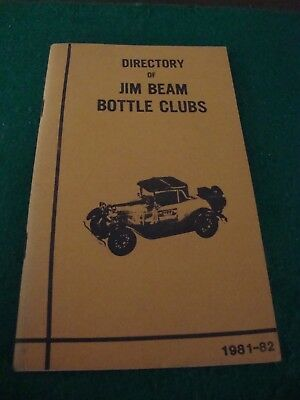 Directory of Jim Beam Bottle Clubs book 1981-82