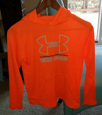 Under Armour Kids Boys Girls Pullover Hoodie Cold Gear Loose Fit Size Youth L