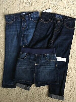 Girls 4T Old Navy Denim skirt and two pair jeans NWT