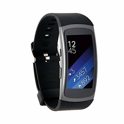 Silicone Replacement Band Strap for Samsung Gear Fit2 Black