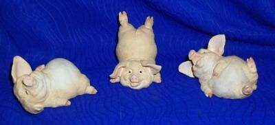 2001 Pig Time Figurines, Three Pigs Home Interiors, Country Farm 113160-01