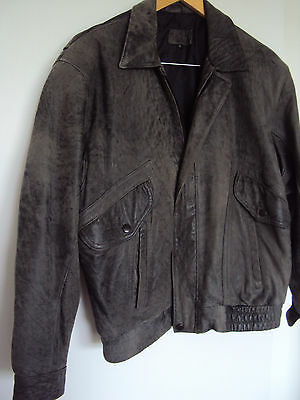 RADIUS label made in Australia leather grey VINTAGE motorcycle jacket size M 80s