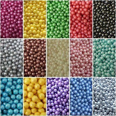 4MM Edible Sugar balls, dragees, Beads and Pearl Cake Cupcake Topper Decoration