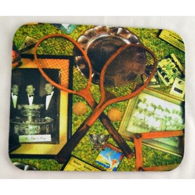 Retro Tennis Rackets Mouse Pad