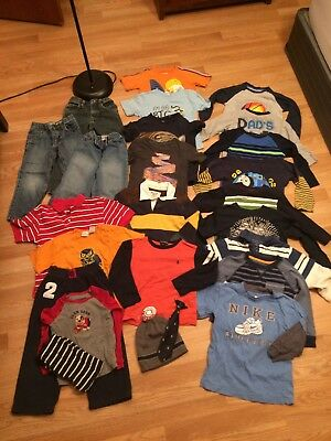 Boys Clothing 4T, Lot of 25 items, Shirts Pants, Old Navy/Children's Place/Gap