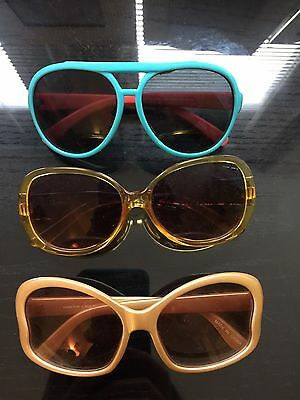 Set Of 3 - Little Girls Sunglasses-  Gap, Whole Foods And Aviator Style