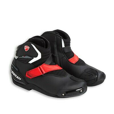 Ducati Theme Technical Motorcycle Short Ankle Boots Black by TCX 9810418