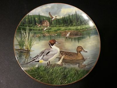 """1986 Bart Jerner's Duck """"The Pintail"""" Collectors Plate Knowles"""