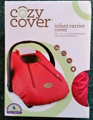 Cozy Cover - Infant Car Seat Cover (Cayenne) Cayenne Red