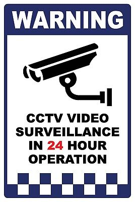 (2 X Signs) - Cctv Security Surveillance Camera  Sign - 300 X 200Mm