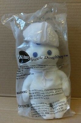 "Pillsbury Giggle Doughboy 8"" Plush 2012 Figure Toy Doll Bean Bag NEW & SEALED"