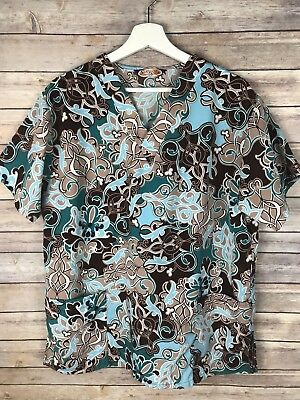 Silky Scrubs Micro Fiber Uniform Scrub Top Size Medium