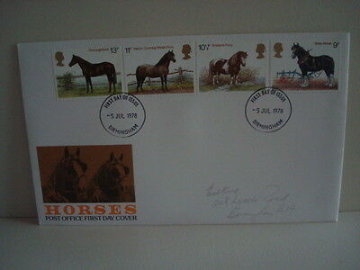 Great Britain Stamps First Day Cover Horses 05/07/1978