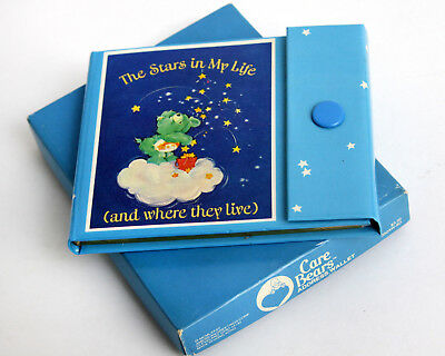 Vtg 1982 Care Bears Address Book American Greetings Hong Kong Wish Star Blue G1
