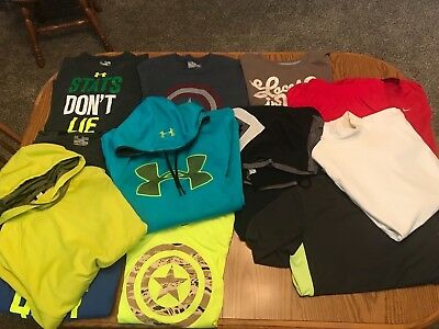 Under Armour, Reebok Young Mens  Large Lot!