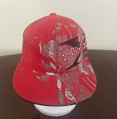564bd4df4ce61 Red Bull Embroidered Flex-Fit Adjustable 6 Panel Hat Cap   Used See ...