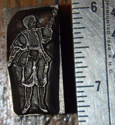 Letterpress Printing Printer Block Press Solid Lead Type Middle Ages Man Dress