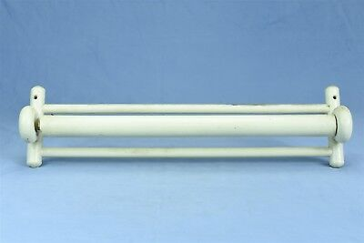 Antique Vintage WALL HUNG PAINTED TOWEL BAR ROLLER STYLE BATHROOM KITCHEN #04398