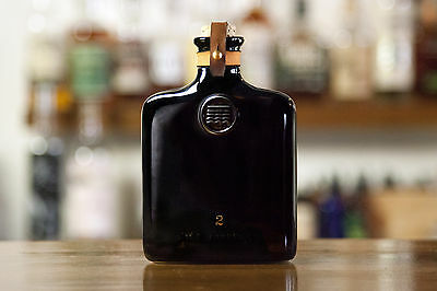 Ceramic Flask 11 oz. with Leather strap-Black