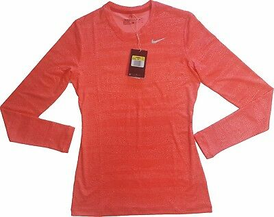 NIKE GOLF WOMENS DRY-FIT, New With Tags, Orange Colored Long Sleeves, Small Size