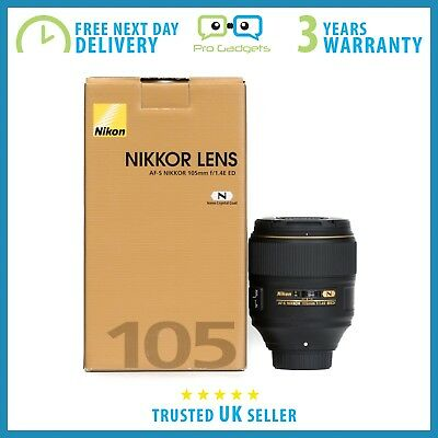 Brand New Nikon AF-S NIKKOR 105mm f/1.4E ED Lens F-Mount - 3 Year Warranty