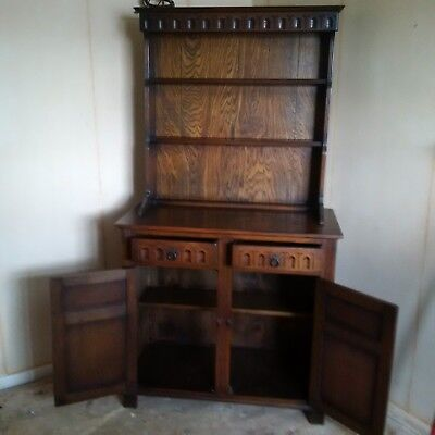 Antique Sideboard with Cupboards and Cutlery Case shelf draws doors