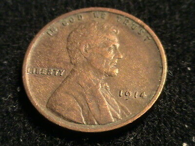 1914 P Lincoln Wheat Cent, tough early date  L83  P1301
