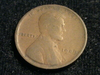 1909 P Lincoln Wheat Cent, tough early date  L83  P1305