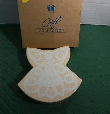 Avon White Lace Angel Ornaments In Gift Box Set Of 2 Angels NIB