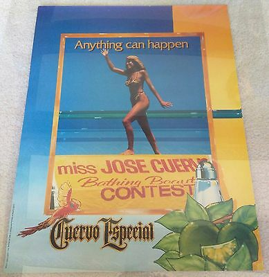 Jose Cuervo Especial Tequila / 1983 Bathing Beauty Contest Poster Man Cave Mint