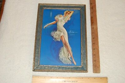 Vintage Framed Original Pin-Up Print by ROLF ARMSTRONG