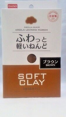 DAISO JAPAN DIY Soft Clay BROWN Made in   JAPAN  F/Shipping