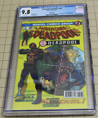 Despicable Deadpool #287  Lenticular Cover Cgc 9.8 Amazing #129 Cover Homage