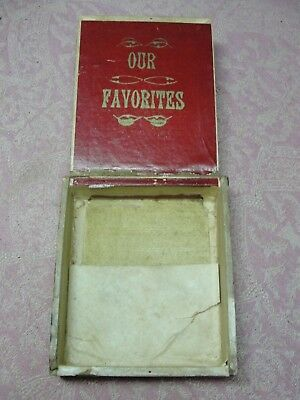 Small Antique Our Favorites Wood 12 Cigar Box  with Henry Clay Tax Stamp
