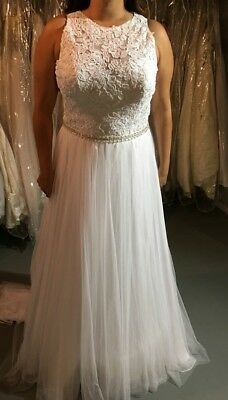 Allure Sample bridal gown #2863.  Size 18, color: Ivory/champ/silver NWOT BO