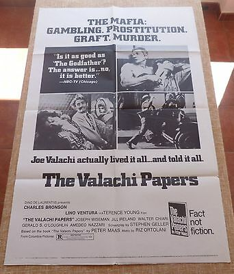 The Valachi Papers Movie Poster, Original, Folded, One Sheet, Style C, 1972, USA