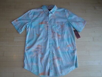 Young Men/'s Short Sleeve Button Front Blue Shirt  $50 The Foundry Supply Co
