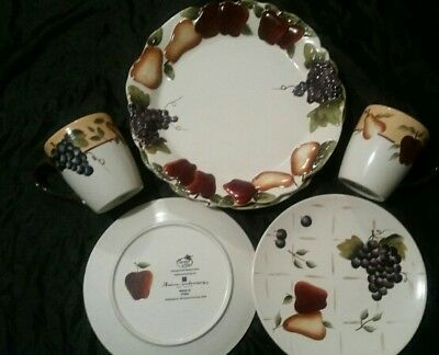 Sonoma Villa, dinnerware set of 2, handpainted earthenware made exclusively for