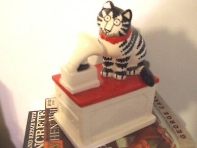 Kliban Cat Listening To Phonograph Music Box