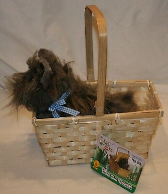 Wizard of Oz Toto Plush w/ Basket Stuffed Animal Dog Toto Costume Accessory Toy