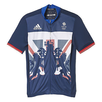Official Team GB Mens Adidas Cycling Training Jersey Top Rio Olympics BNWT Small